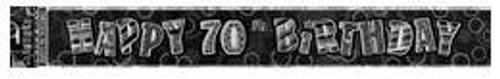 Glitz Black Silver Foil 70 Banner