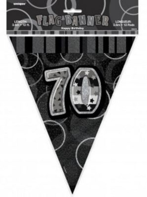 70th Birthday Bunting - Silver