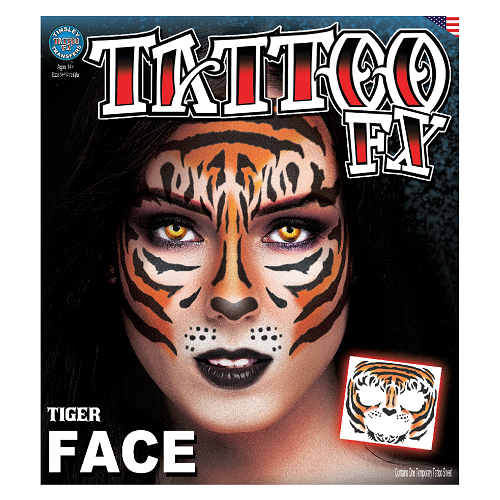 Tinsley Transfers - Tattoo FX Tiger Full Face