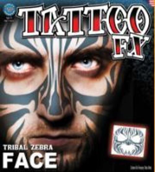 Tinsley Transfers - Tattoo FX Tribal Zebra Face