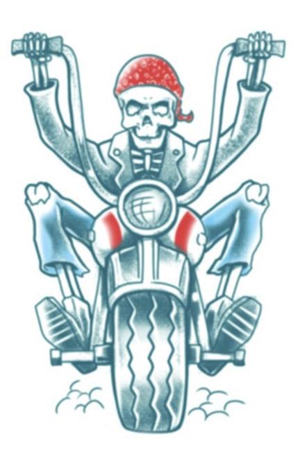 Tinsley Transfers - Tattoo FX Biker Born To Ride