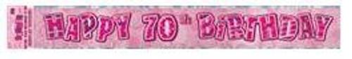 Glitz Pink Foil 70 Banner