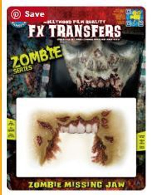 Tinsley Transfers - 3D FX Zombie Missing Jaw