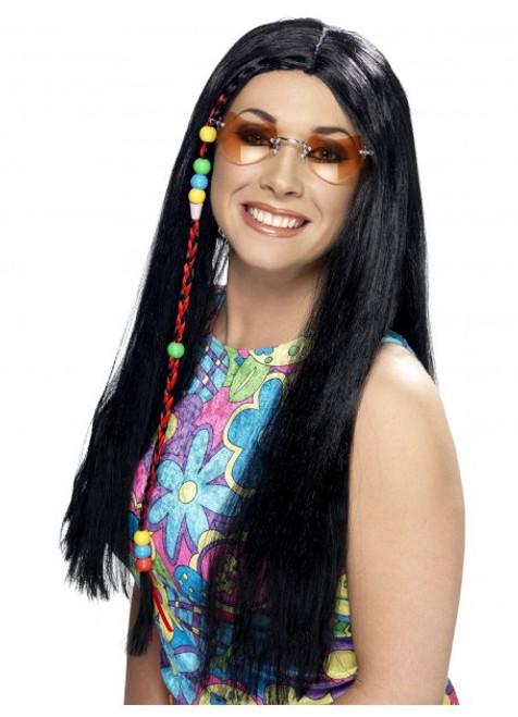 Hippy Party Wig - Black