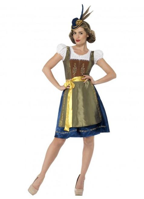 Traditional Deluxe Heidi Bavarian Costume - S