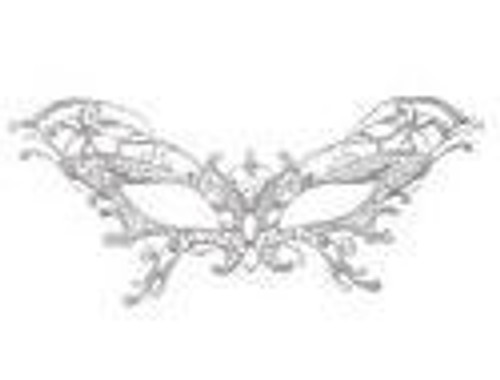 Eyemask Serena Lace Silver