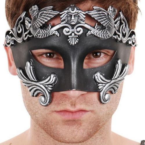 Eyemask Nicholas Roman Silver and Black