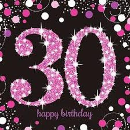 Pink Celebration 30 Luncheon Napkins