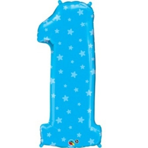 "38"" Number 1 Blue Stars"
