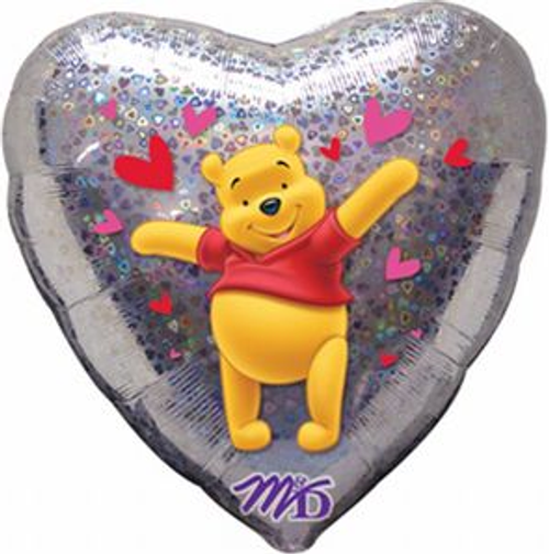Winnie The Pooh Love Holographic Foil Balloon
