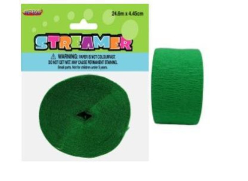 Streamer Crepe Emerald Green