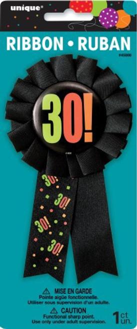 Birthday Cheer Award Ribbon 30