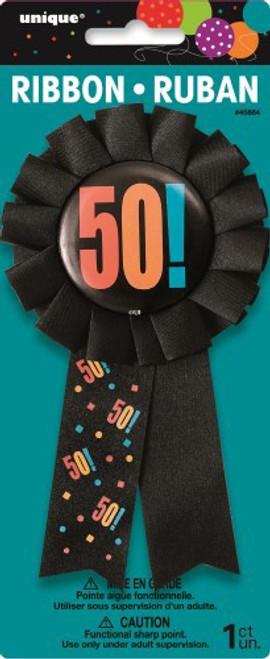 Birthday Cheer Award Ribbon 50