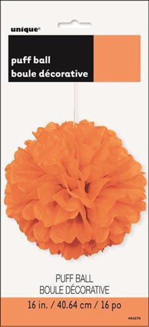 Puff Ball 40cm - Pumpkin Orange