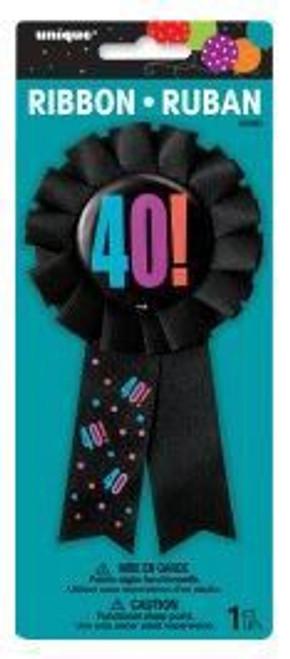 Birthday Cheer Award Ribbon 40