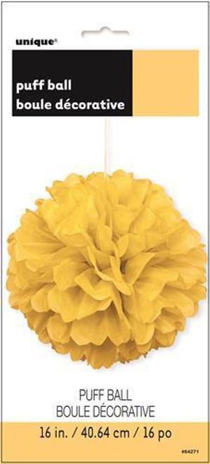 Puff Ball 40cm - Sunflower Yellow