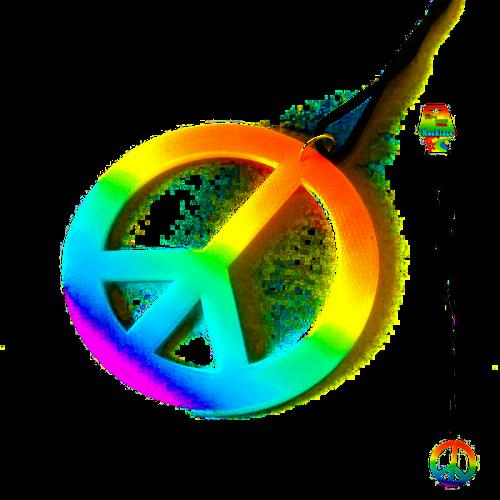 Peace Sign Hippie Necklace