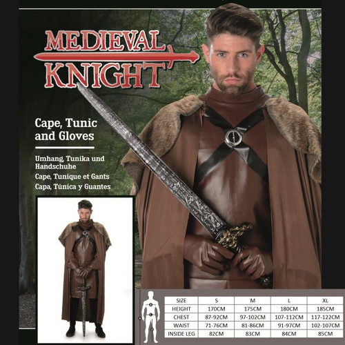 Medieval Knight Costume - L