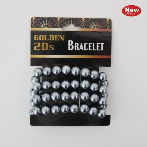 Pearl Flapper Bracelet - Silver
