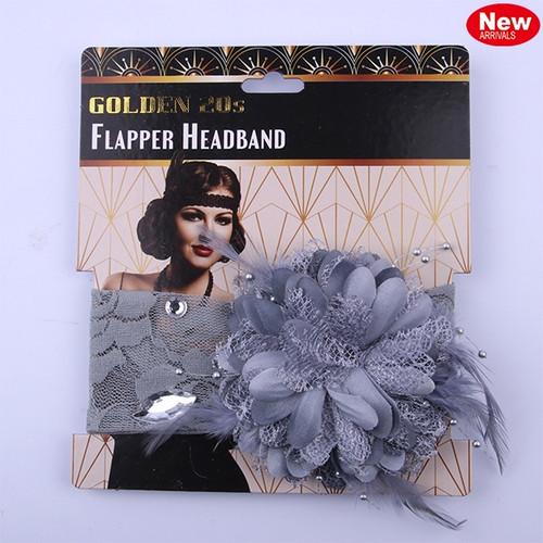 Flapper Headband - Silver