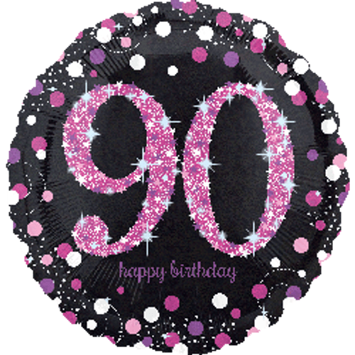 Pink Celebration 90 Holographic Foil Balloon