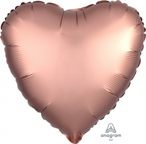 Heart Satin Luxe Copper Gold Foil Balloon
