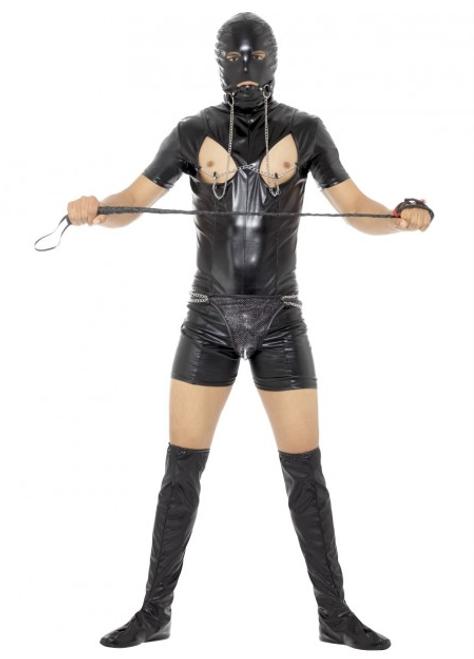 Bondage Gimp Costume with Bodysuit - L