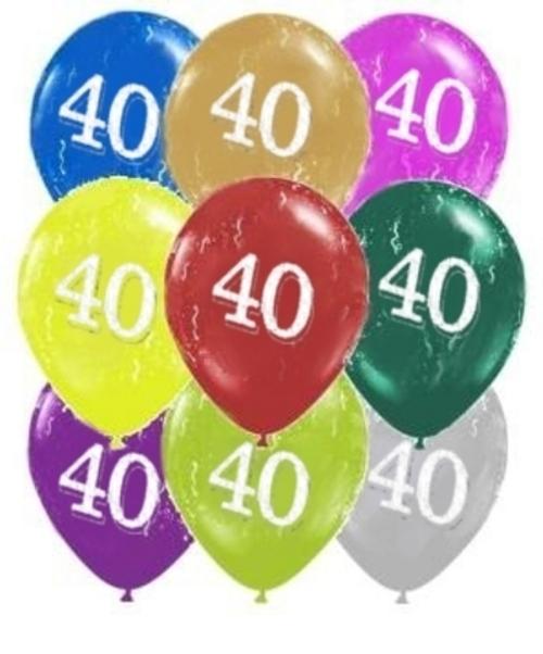 40 Around Pearl Latex 11inch Printed Balloon