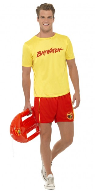 Men's Baywatch Lifeguard Costume - M