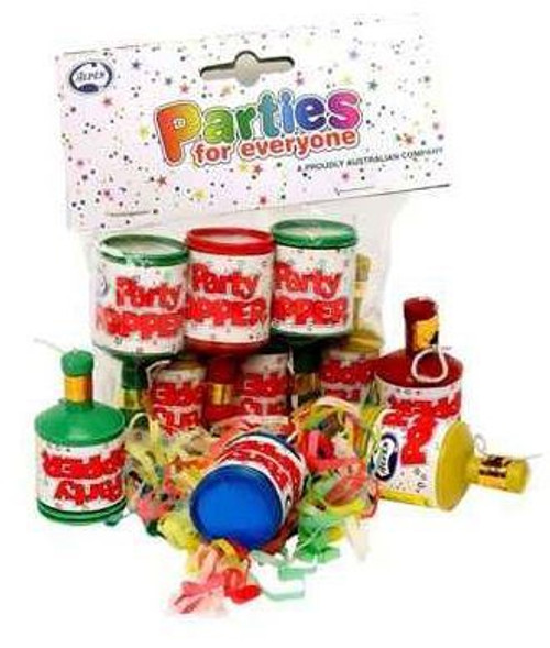 Party Poppers - Pack of 6