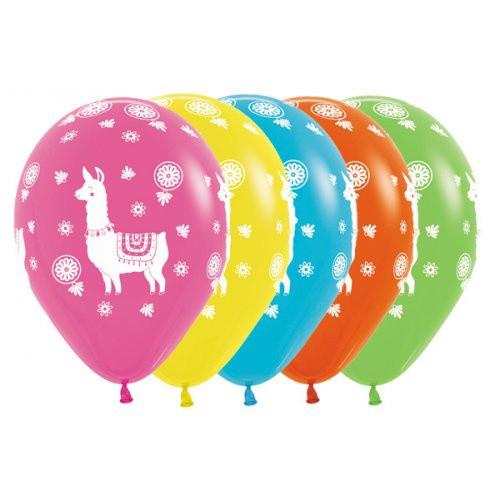 Boho Llamas Latex Balloons