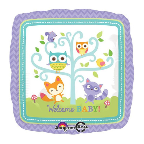 Welcome Baby Woodland Foil Balloon
