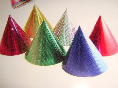 50 Asst Laser Party Hats