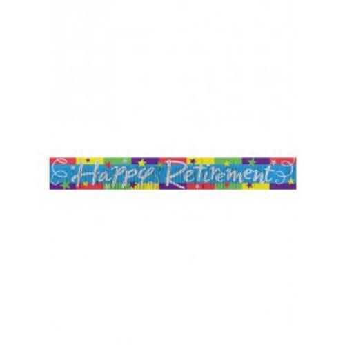 Happy Retirement Fringe Banner