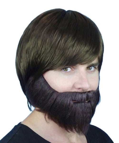 Beard Synthetic Brown with Elastic