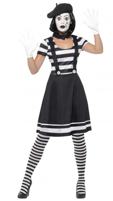 Lady Mime Artist Costume - S