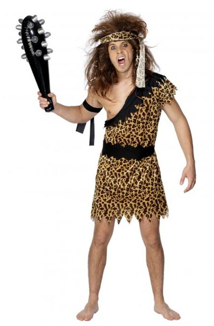 Caveman Costume, Leopard Print - L
