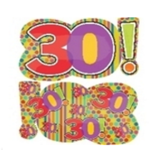 Birthday Dots And Stripes 30 Supershape