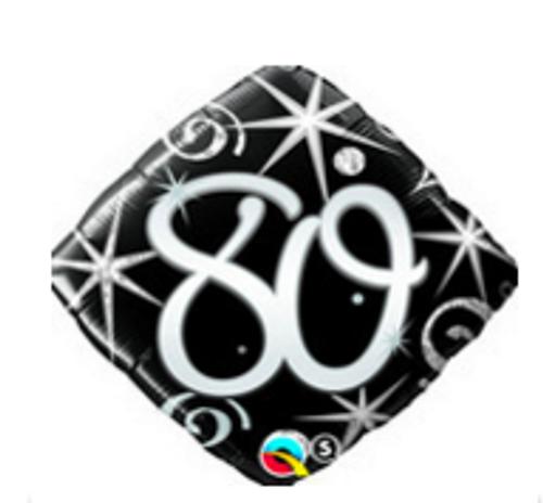 80 Elegant Sparkles & Swirls Foil Balloon