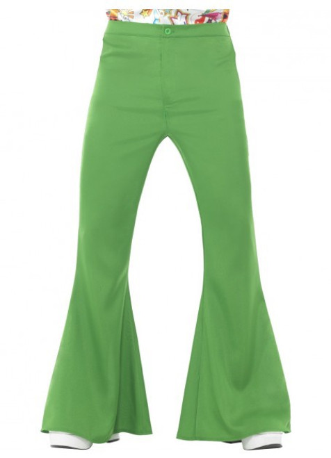 60s Flared Trousers - Green - XL