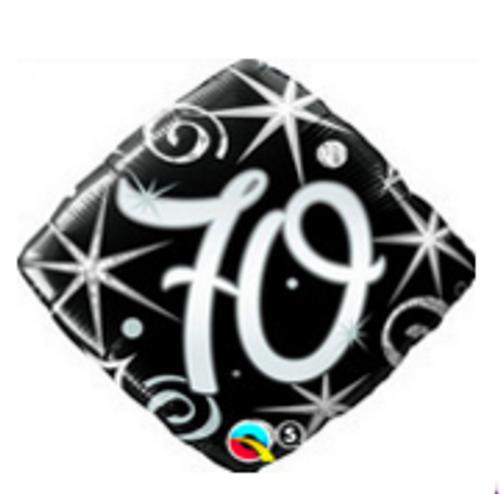 70 Elegant Sparkles & Swirls Foil Balloon
