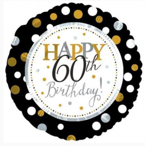 Happy 60th Birthday Foil Balloon