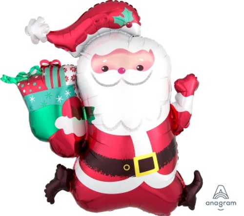 Running Santa Supershape Foil Balloon