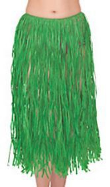 Long Hula Skirt - Green
