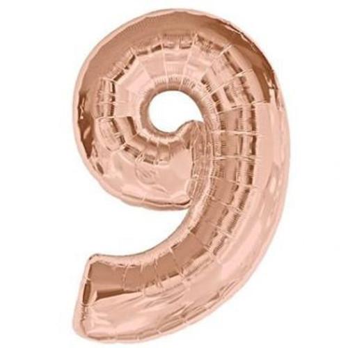 Number 9 Megaloon - Rose Gold