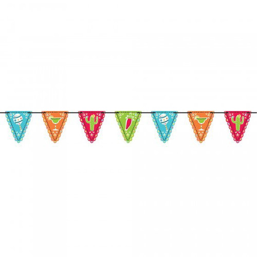 Fiesta Mini Paper Pennant Flag Banner