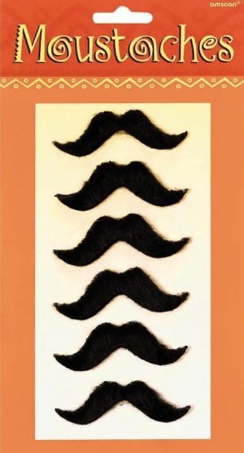 Fiesta Moustache Set of 6