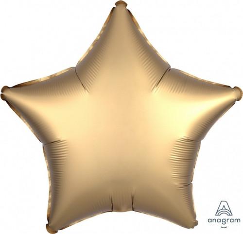 Star Satin Luxe Gold Sateen Foil Balloon