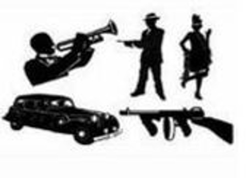 Gangster Silhouettes Cutouts