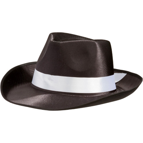 20's Gangster Hat Black with White Band